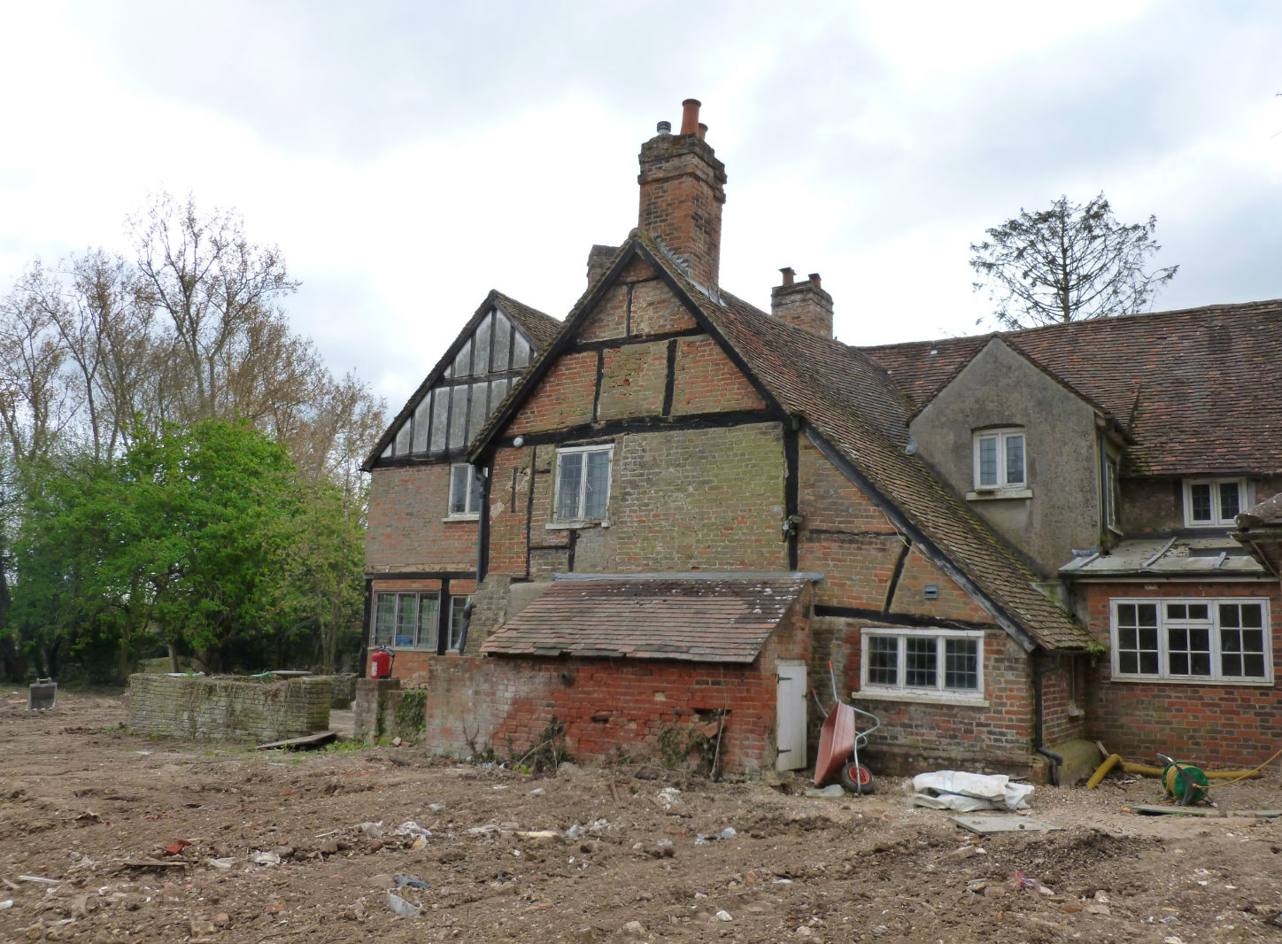 Private Residence, Buckinghamshire - Rear View - Before