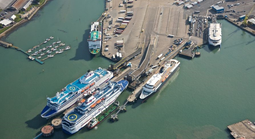 Berth 2, Portsmouth International Ports Before works Aerial View